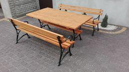 Meble ogrodowe biesiadne stół ławki żeliwne kolory dostawa 175x75