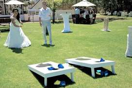 Corn Hole Toss Lawn Game For Hire