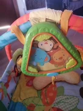 Baby play gym and bouncer