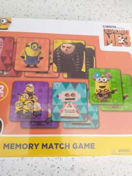 Despicable me 3 memory matching game