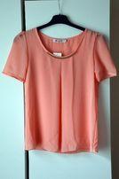Koralowa, szyfonowa koszula Oasap