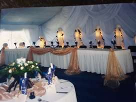 Drapping and candle rentals