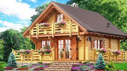 Domek letniskowy drewniany 65,5 m2