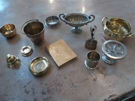 Various Brass/Silver/Plated Items for sal
