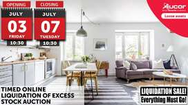 TIMED ONLINE LIQUIDATION OF EXCESS STOCK AUCTION – EVERYTHING MUST GO