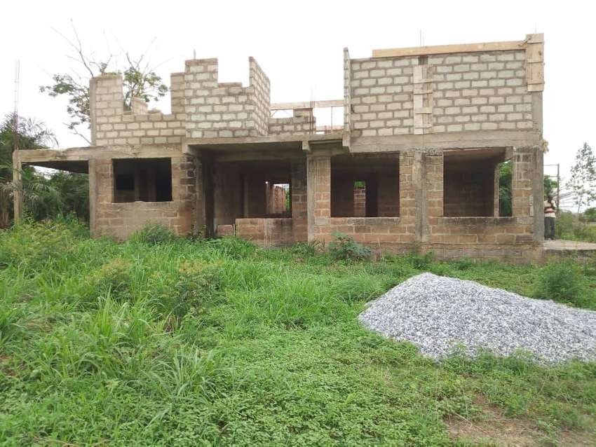 Uncompleted 4bedroom house for sale at Aglow Farm Kokrobite near Kasoa 0