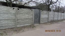 Забор бетонный (еврозабор) в Чернигове Черниговской обл.