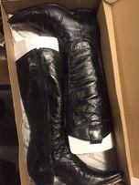 kowbojki czarne, skóra naturalna, jako buty motocyklowe