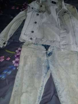 Denim jacket and some Jean pants
