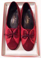 Школьные туфли Лавента, замша 36,5 размер, красные, как новые