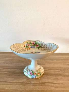 Floral Compote Dish