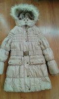 Зимнее пальто на девочку р.128.Next