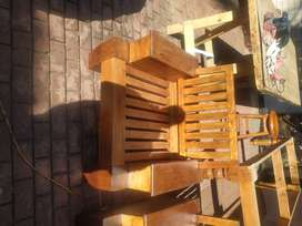 Two unique solid wood chairs price negotiable