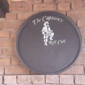 Roll Call boards for braai or bar area