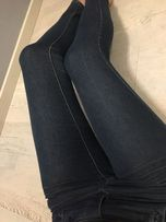 Granatowe spodnie hause 36