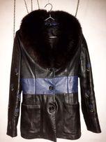 Кожаное пальто ( куртка шуба ) осеняя куртка
