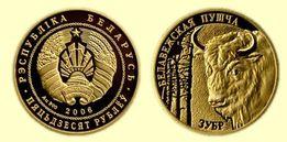 Białoruś 50 Rubli Żubr złoto pr 900 8 g