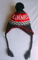 Шапка Guinness утеплённая, флисовая шапка, зимняя вязаная шапка
