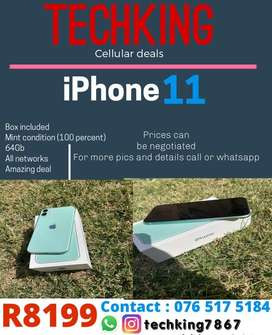 iphone 11 - with box amazing condition