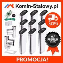 Wkłady Kominowe Owalne do Komina Fi120x240/9m/1mm Kwaso-żarooodporny