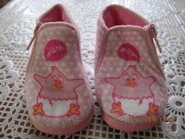 детские пинетки-ботиночки для первых шагов на резиновой подошве