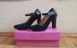 Туфлі Туфли жіночі женские 37 замш кожа модельні модельные.