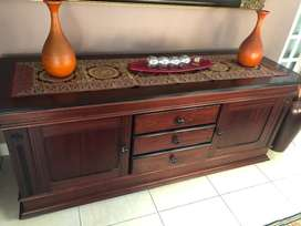 Mahogony Side Dinner Table Cabinet