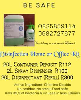 Disinfectant and Sanitizer for sale