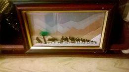 Уникальная Песочная Картина на подставке Пески Омана Сувенир Ручная Ра