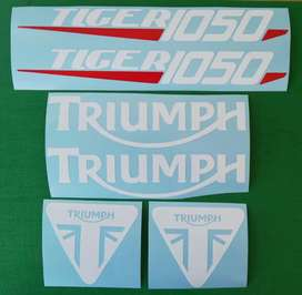 Stickers decals set for a 2012 tiger 1050