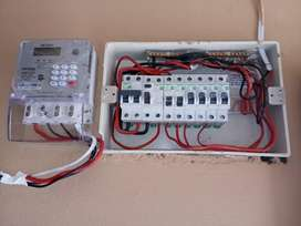 Electrician and meter box installation
