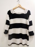 sweter w pasy Reserved Basic L
