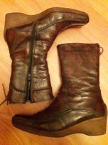 теплые зимние сапоги ботинки даме натуральная кожа натуральный мех