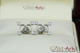 Пусеты Гучи с бриллиантами