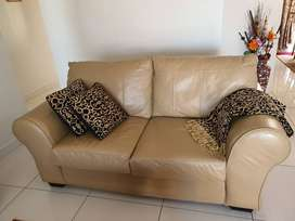 Leather couches, clean, fresh and strong