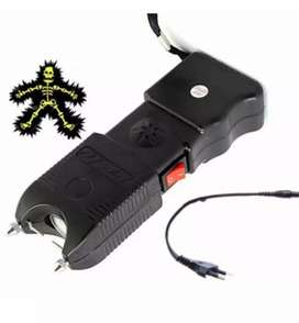 Stun gun with rechargeable battery and torch function and alarm