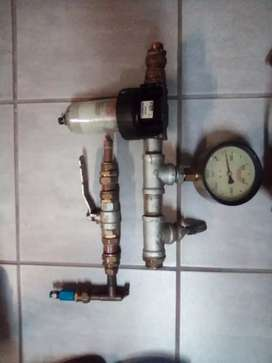 Pneumatic Guage and tap