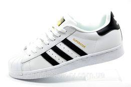 Кроссовки мужские Adidas Superstar, Белый/Чёрный, купить со скидкой