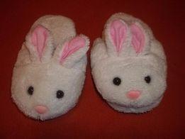 """Białe kapcie dla dziecka cieplutkie """"królik"""""""