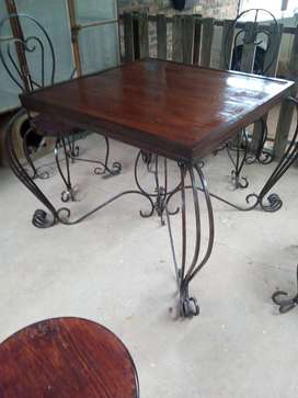 Old style table and chairs