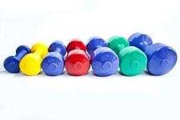 Гантели для фитнеса/спорта/тренировок пластиковые 0.5,1,2,3,4кг OSPORT