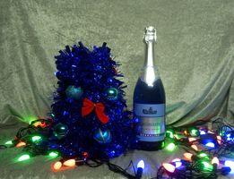 Декор для бутылки/ новогодняя елка/ чехол для бутылки