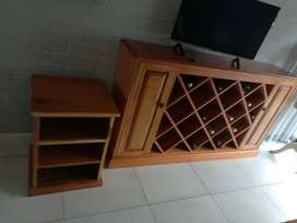 BLACKWOOD CABINET AND SMALL CABINET COMBO
