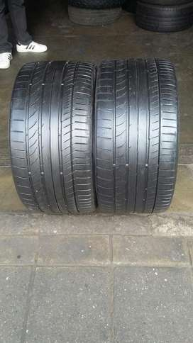 TYRES 285/30/19 continental tyres