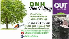 Tree felling service and garden services