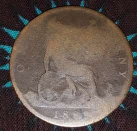 1882 One Penny no H mint mark