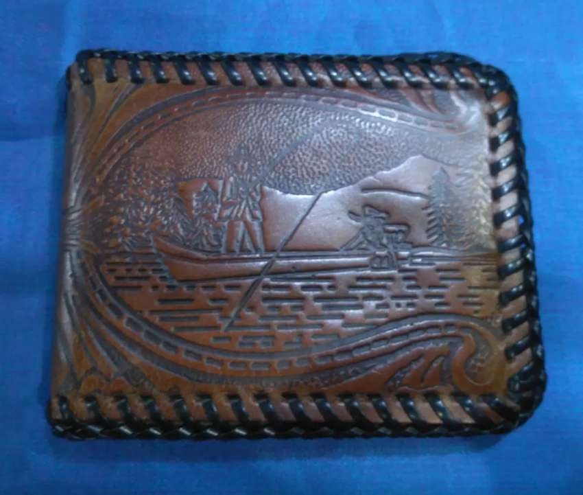Men's pure leather wallets 0