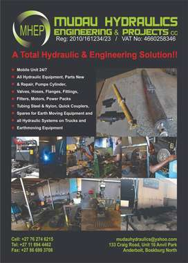 We offer a 24/hr service on all hydraulic equipment, call us now