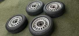 13inch steelies with tyres R1500