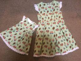 Продам яркий «Фэмили Лук» платья Мама-Дочка на годик Состояние Нового.